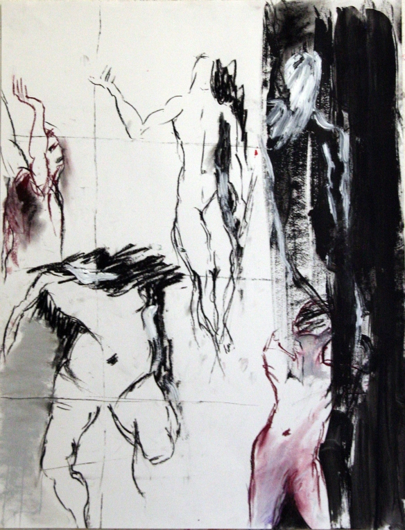 Drawing No. 11 Study's mixed media on paper 2012 50 x 65 cm