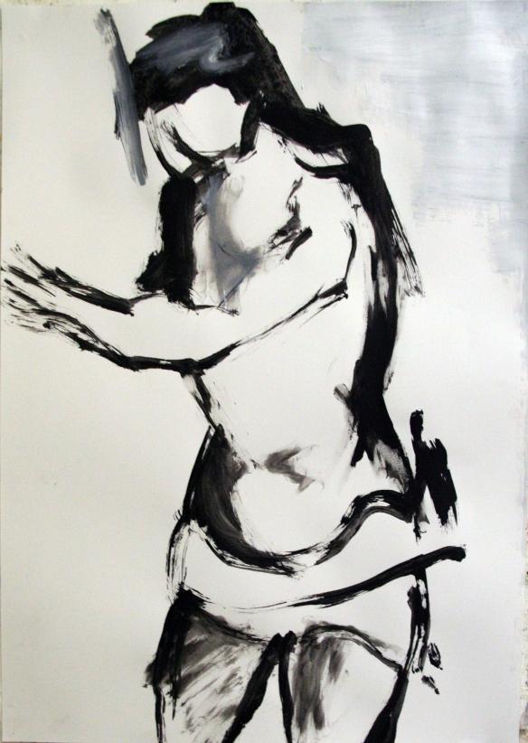 Drawing No. 16 Study acryl on paper 50 x 65 cm 2012
