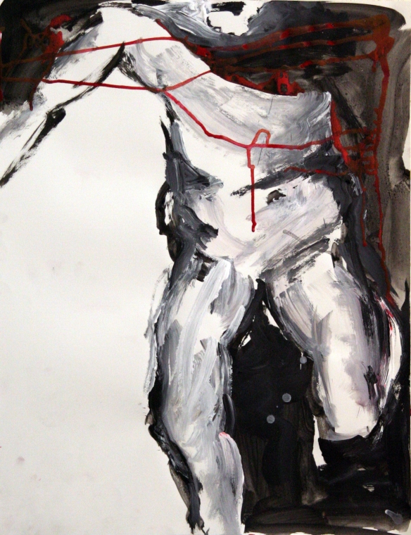 Drawing No. 19 Study on El Greco acryl ink on paper 65 x 50cm 2012