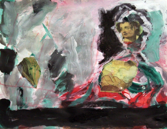 Drawing No. 26 Study on 'The eternal Judgement' by Michel Angelo  mixed media on paper 50 x 65 cm 2012