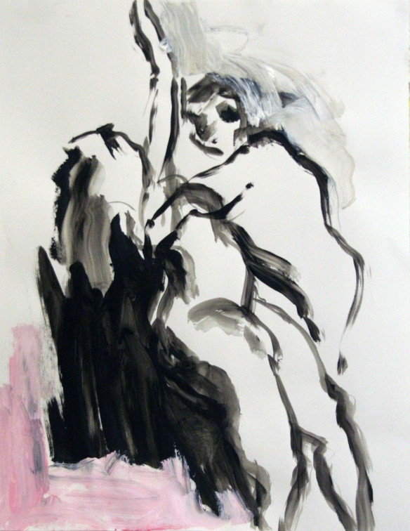 Drawing No. 28 Study on 'Persephone' acryl,ink on paper 65 x 50 cm 2012
