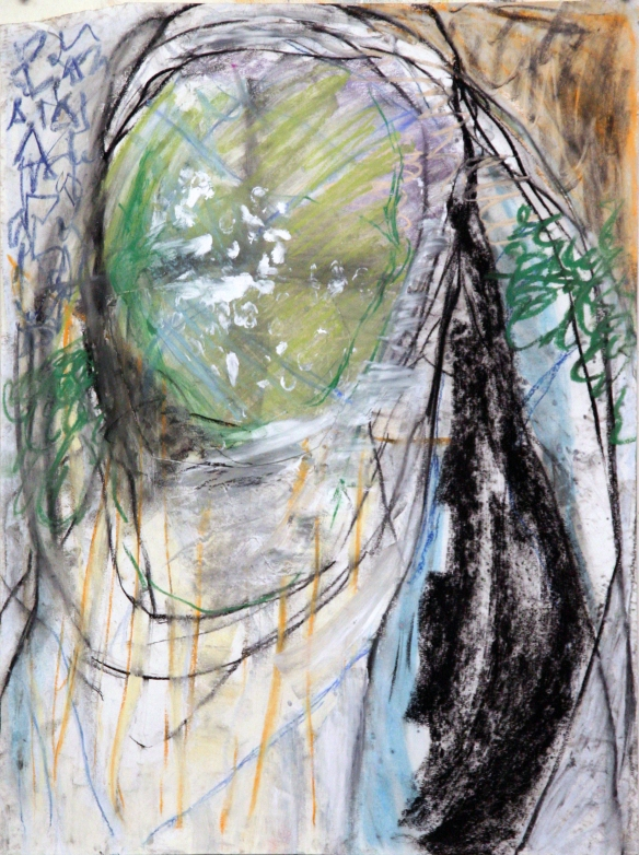 Drawing No. 3  series Study on 'The Original Sin'  mixed media on paper 64 x 48 cm 2012