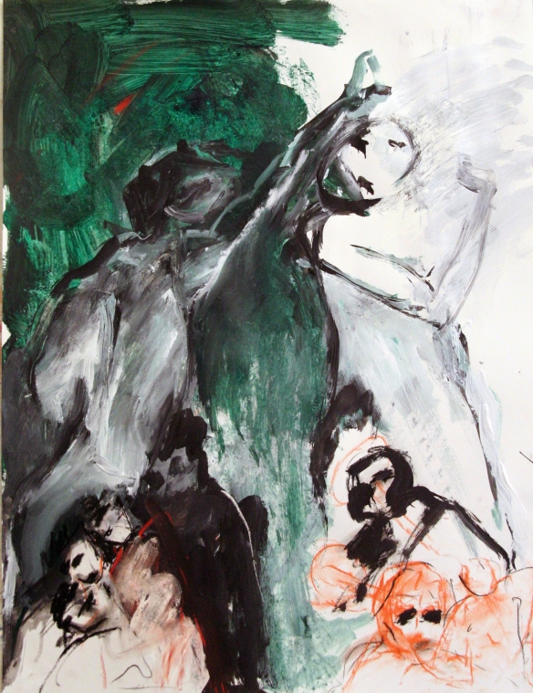 Drawing No. 31 Study on 'The eternal Woman' mixed media on paper 65 x 50 cm 2012