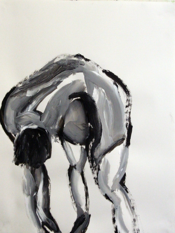 Drawing No. 32 Study on Cezanne acryl on paper 65 x 50 cm 2012