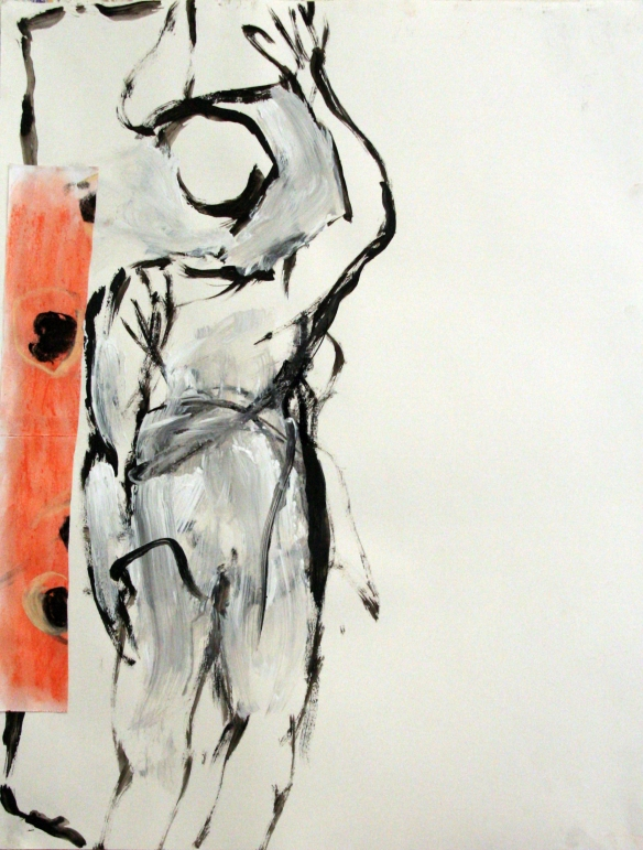 Drawing No. 35 'Study'  ink, acryl, crayon on paper 65 x 50 cm 2012