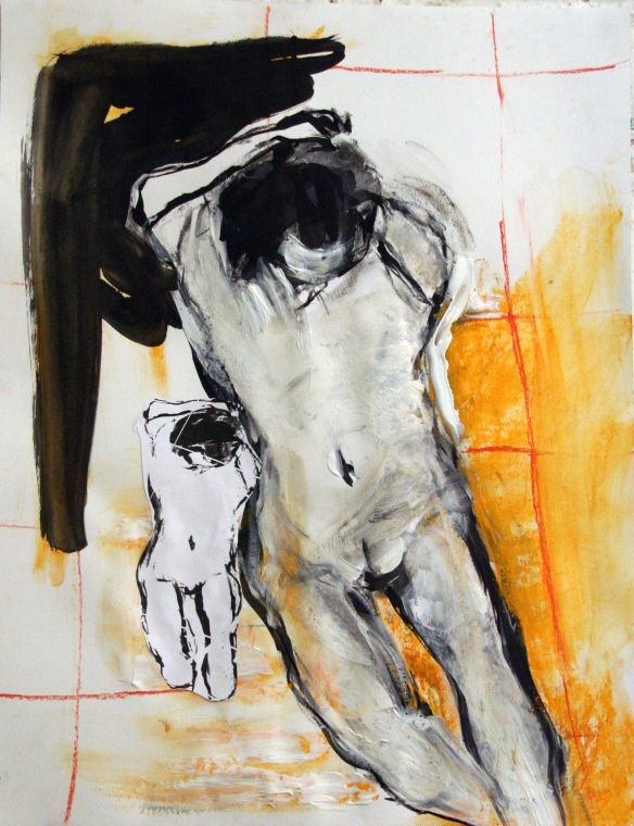 Drawing No. 47 Study on 'Rubens'  mixed media on paper 50x65 cm 2013