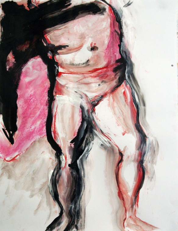 Drawing No. 51 Study on ´Rubens´ ink, crayon, acryl on paper 50 x 65 cm 2013