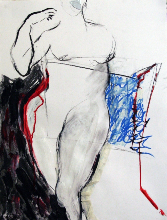 Drawing No. 54 Study on Portraits by Martin Kippenberger mixed media on paper 50 x 65 cm 2013