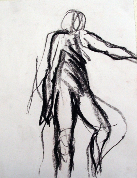 Drawing No. 7  Study on movement charcoal on paper 30 x 21cm 2012