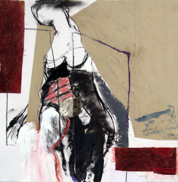 Drawing No. 78 on Esther before Ahasuerus o.i.ink, charcoal, crayon, scrap on paper 62 x 65 cm 2013